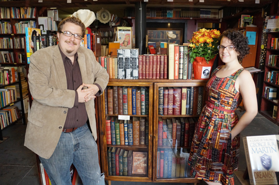 Josh and Megan at Underground Books
