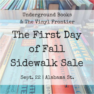Fall Sidewalk Sale with Underground Books & The Vinyl Frontier