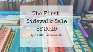 The First Sidewalk Sale of 2019