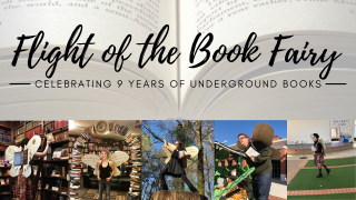 Flight of the Book Fairy for Underground Books' 9th Anniversary