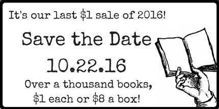 Our Last $1 Book Sidewalk Sale of 2016