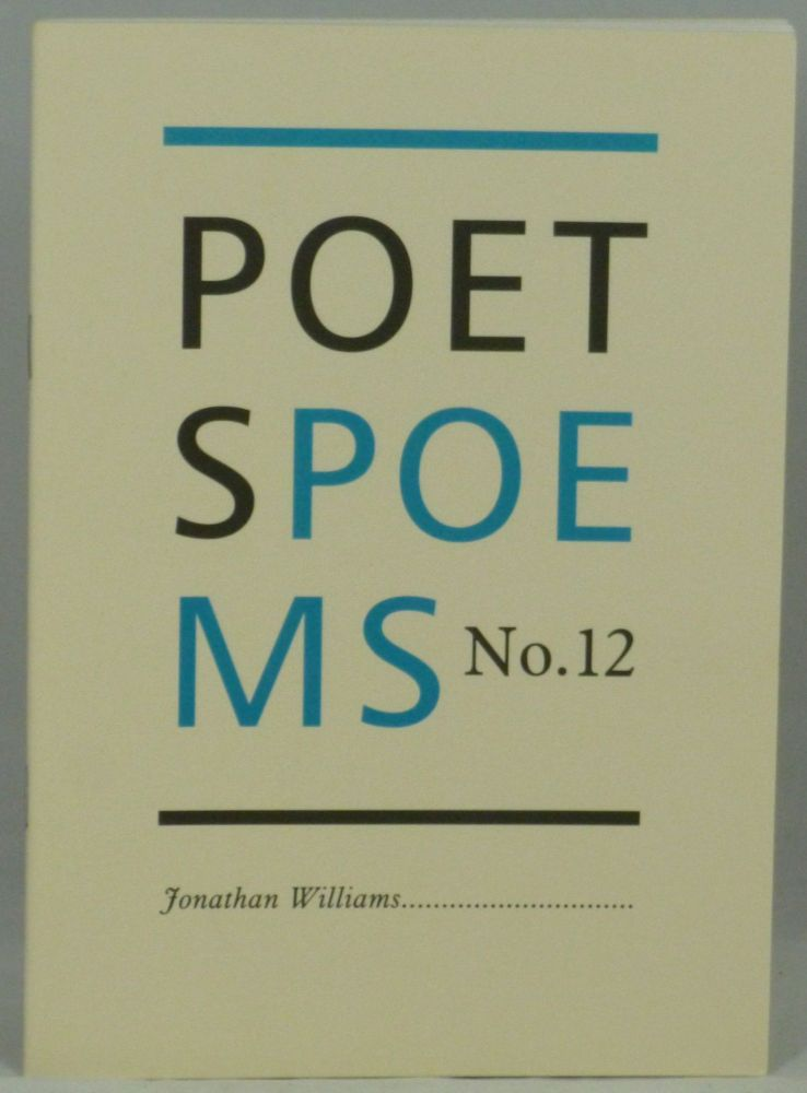 Poet's Poems No. 12. Jonathan Williams, Compiler.