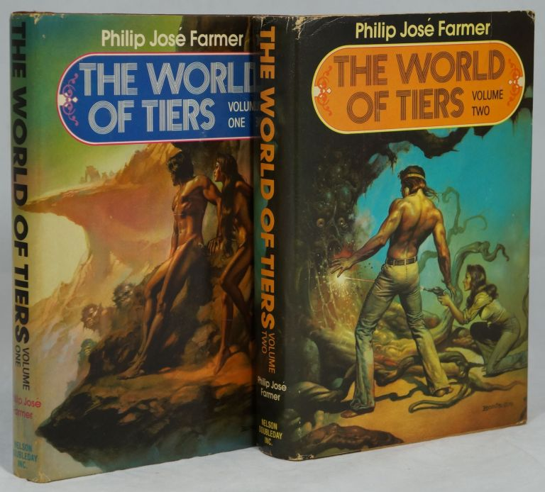 The World of Tiers, Volume 1: The Maker of Universes, The Gates of Creation [and] Volume 2: A Private Cosmos, Behind the Walls of Terra, The Lavalite World (Two Volume Set, Complete). Philip Jose Farmer.