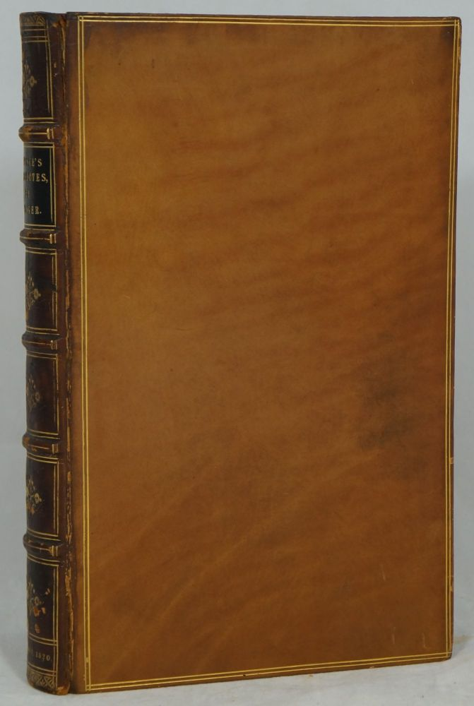 Anecdotes, Observations, and Characters, of Books and Men. Collected from the Conversation of Mr. Pope, and Other Eminent Persons of His Time by the Rev. Joseph Spence. Now First Published from the Original Papers, with Notes, and a Life of the Author. Joseph Spence, Samuel Weller Singer.
