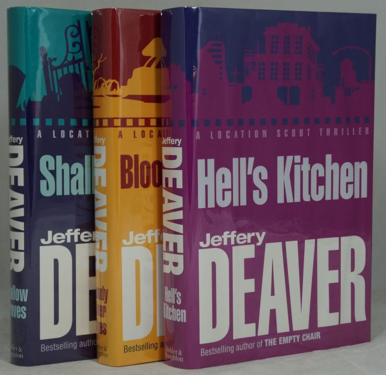 The John Pellam Trilogy: Shallow Graves, Bloody River Blues, [and] Hell's Kitchen (Complete Three Volume Set, Signed First Editions). Jeffery Deaver, originally under pseud. William Jefferies.
