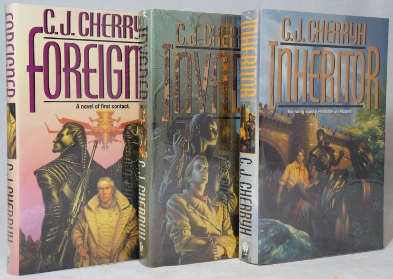 Foreigner, Invader, [and] Inheritor [Signed First Editions, 3 Volumes]. C. J. Cherryh.