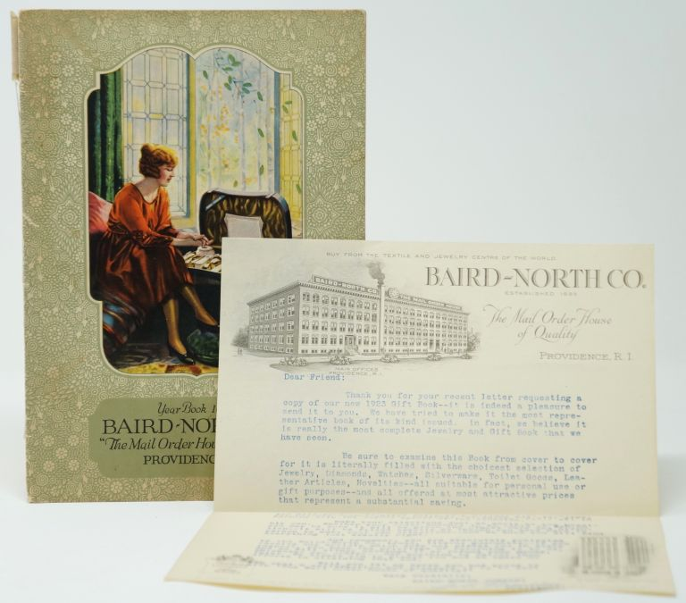 "Baird-North Co. ""The Mail Order House of Quality,"" Providence, R.I.,Year Book 1923 with Signed Typed Letter on Baird-North Co. Letterhead"