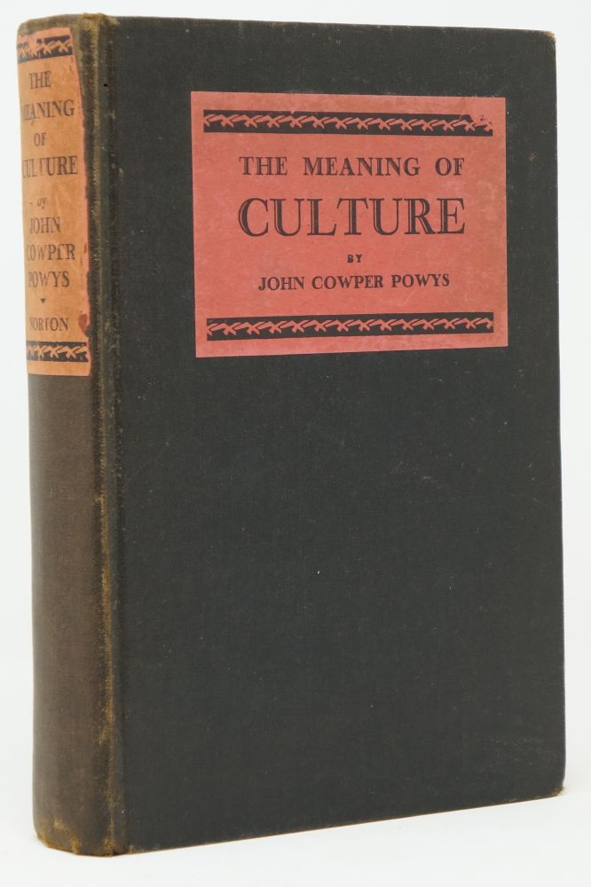 The Meaning of Culture. John Cowper Powys, Ex Libris Lyford Paterson Edwards.