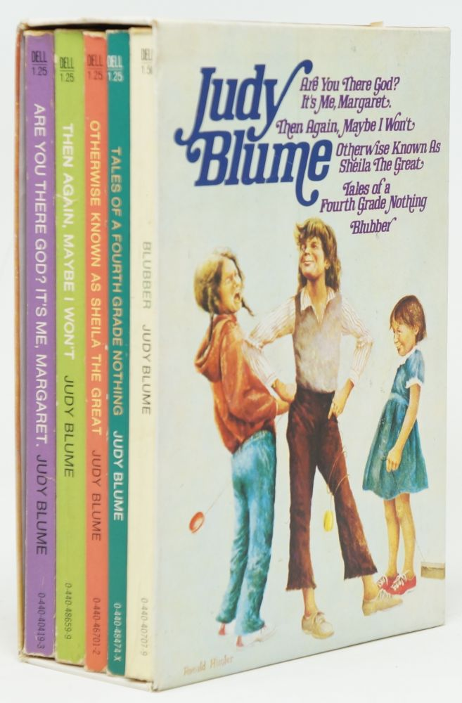 Judy Blume Box Set of 5 Books: Are You There God? It's Me, Margaret.; Then Again, Maybe I Won't; Otherwise Known as Sheila the Great; Tales of a Fourth Grade Nothing; Blubber. Judy Blume.