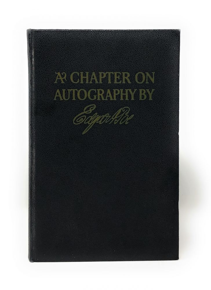 A Chapter on Autography. Edgar Allan Poe.