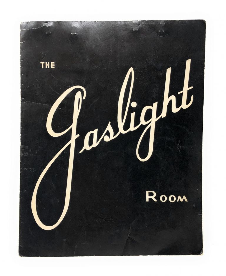 1960s Menu from The Gaslight Room