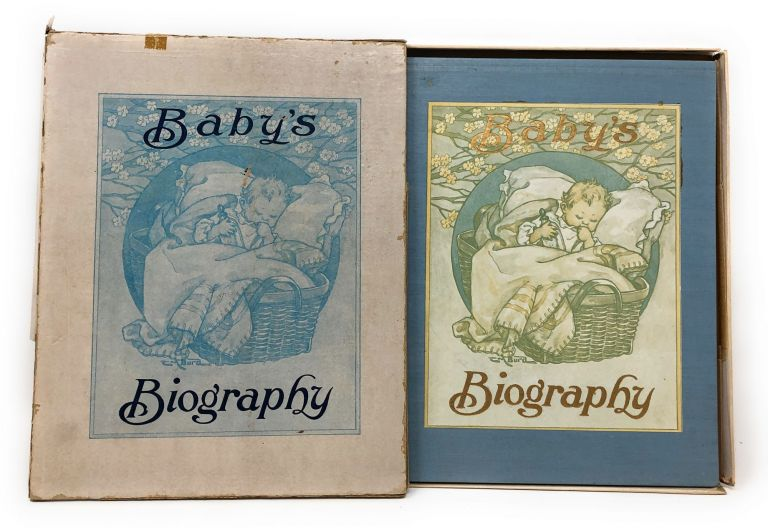 Baby's Biography [Antique Baby Book, Filled Out]. C. M. Burd, Illust.