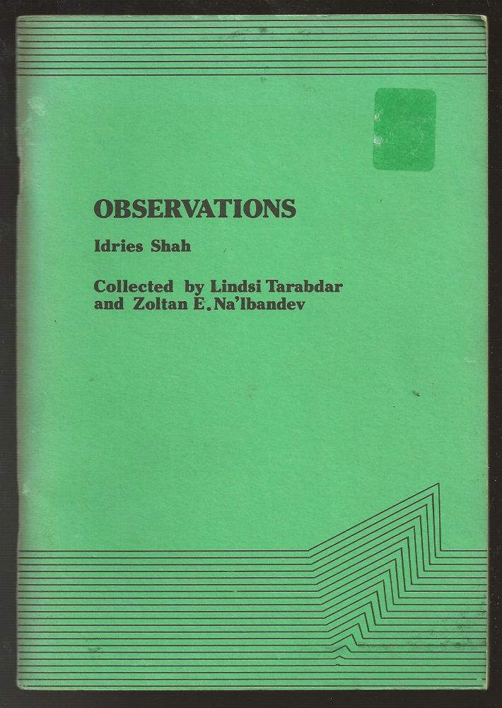 Observations. Idries Shah.