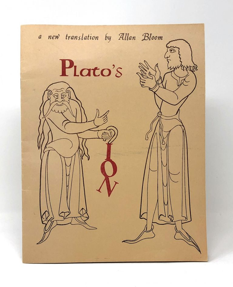 Plato's Ion. Allan D. Bloom.
