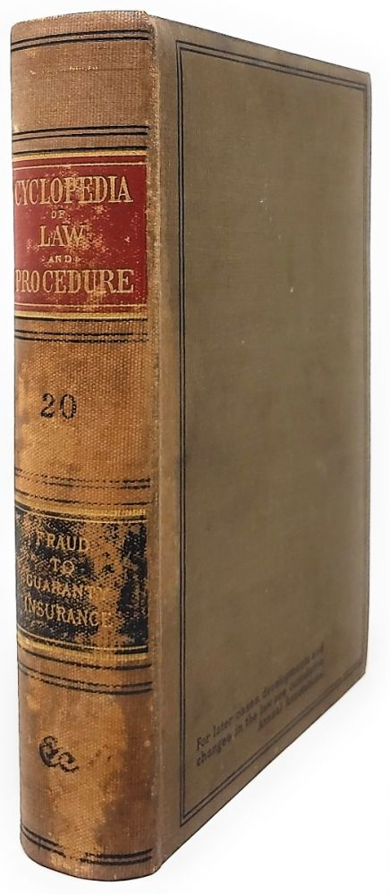 Cyclopedia of Law and Procedure [Volume 20]. William Mack.