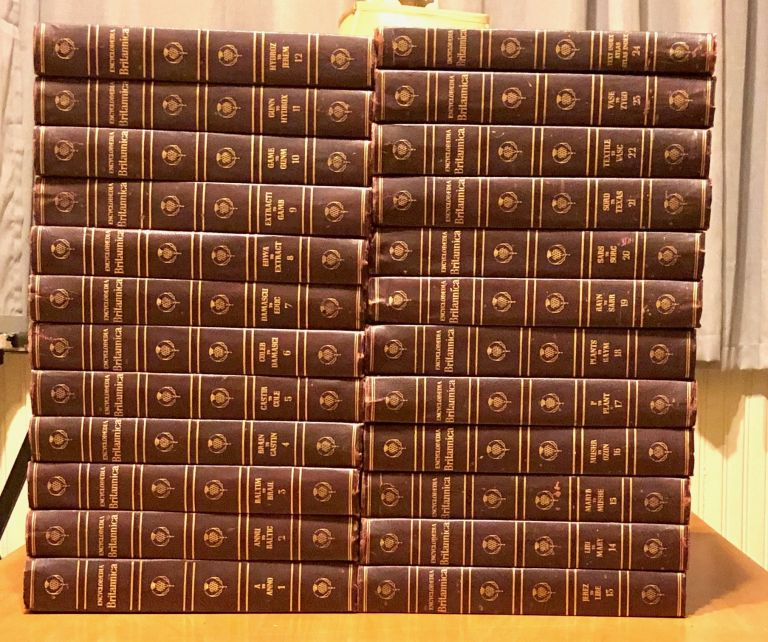 Encyclopedia Britannica 1958 Complete 24 Volume Set