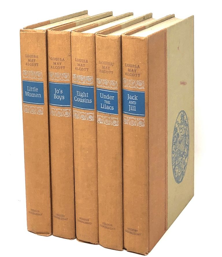 The Works of Louisa May Alcott: Little Women, Jo's Boys, Eight Cousins, Under the Lilacs, Jack and Jill [5 Volumes]. Louisa May Alcott, Ruth Ives, Reisie Lonette, Illust.