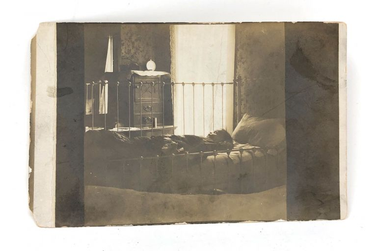 Vintage Post Card with Sleeping or Post-Mortem Baby