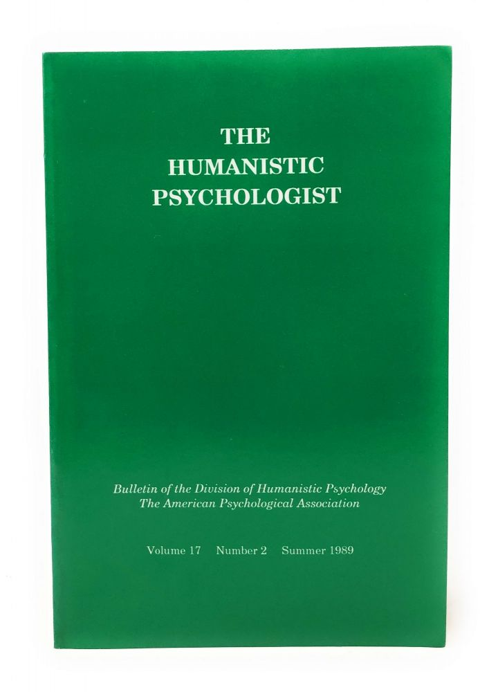 The Humanistic Psychologist Volume 17 Number 2 Summer 1989. Christopher Aanstoos.