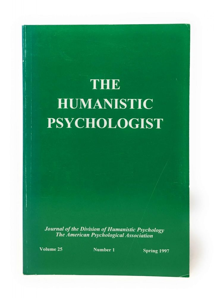 The Humanistic Psychologist Volume 25 Number 1 Spring 1997. Christopher Aanstoos.
