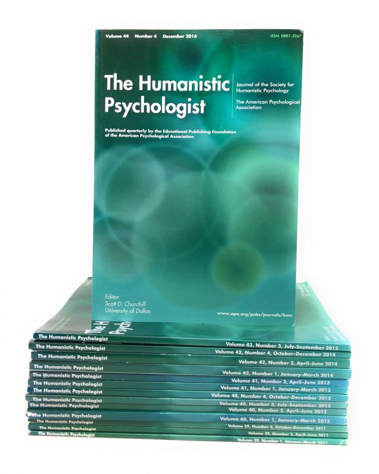 Lot of 14 Volumes of The Humanistic Psychologist Journal 2011 to 2016. Scott D. Churchill.