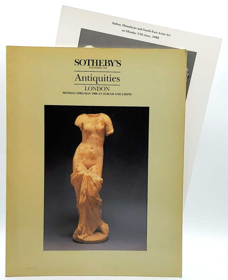 Antiquities: Ancient Glass, Ancient Jewellery, Middle Eastern, Egyptian, South Italian, Greek, Etruscan and Roman Antiquities also Art Reference Books, London, Monday May 23, 1988 [Sotheby's Auction Catalog]