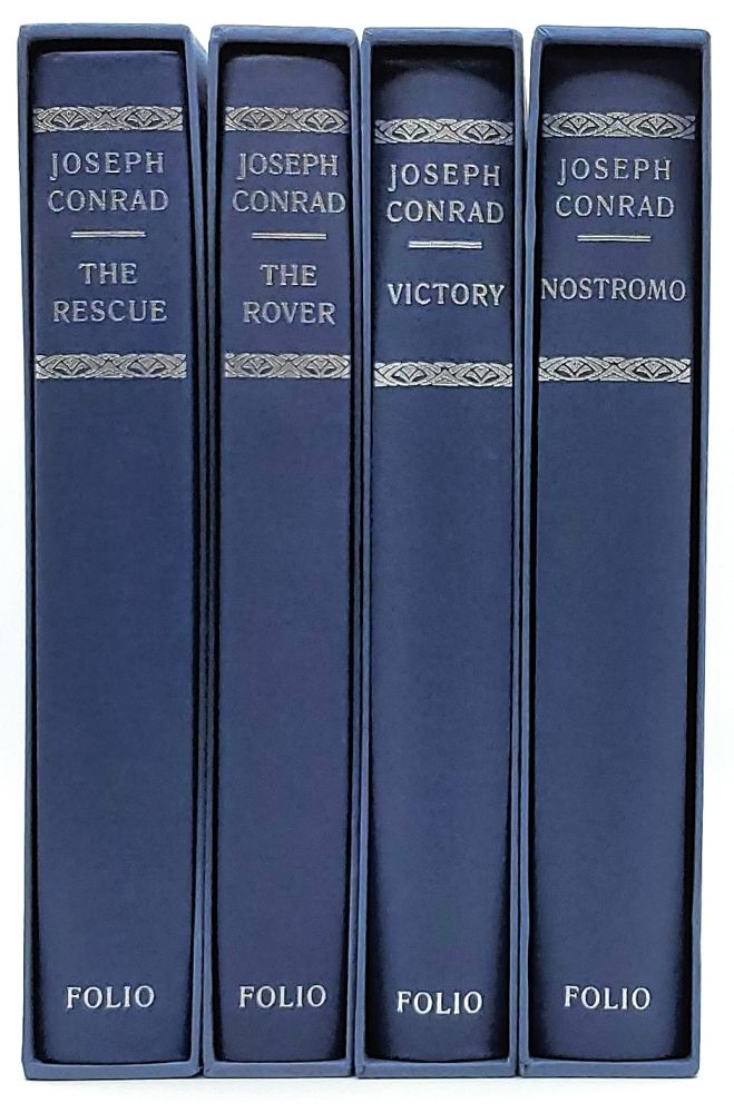 The Rescue: A Romance of the Shallows; The Rover; Victory: An Island Tale; Nostromo: A Tale of the Seaboard [Set of 4 Jospeh Conrad Novels]. Joseph Conrad, Francis Mosley, Illust.