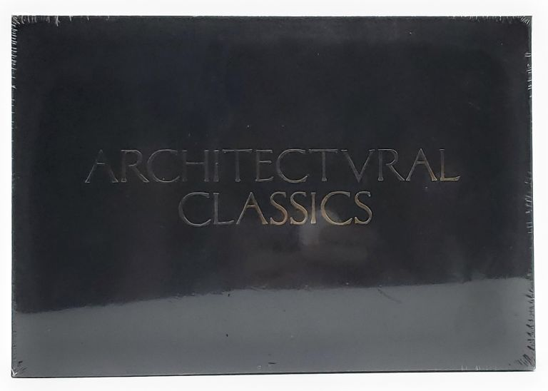 """Architectural Classics Notecards: 20 Prints and Envelopes (20 different cards on luxe paper, 9"""" x 6"""", gold foil stamped box)"""