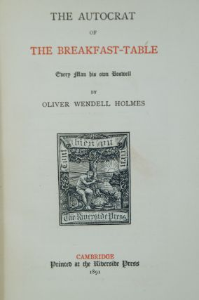 The Writings of Oliver Wendell Holmes (Limited Large-Paper Edition, 16 Volumes, Complete)