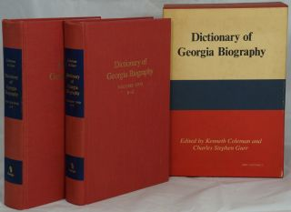 Dictionary of Georgia Biography. Kenneth Coleman, Charles Stephen Gurr