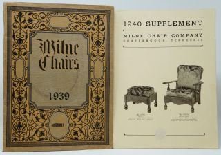 Milne Chair Company 1939 Trade Catalog [and] 1940 Supplement [Milne Chairs