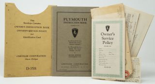 Chrysler Plymouth Owner's Instruction Book and Service Policy