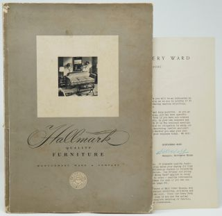 Hallmark Quality Furniture with two letterhead envelopes, blank order form, and signed typed...