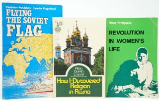 "[Cold War Era Soviet Publicity Booklets]: Flying the Soviet Flag; How I ""Discovered"" Religion in Russia; Do Russian People Stand for War?; The Great Victory: A Brief Account of the Great Patriotic War of the Soviet People (1941-4945); Revolution in Women's Life; The Soviet People: Portrait Sketches About the Origins, Ways, Customs and Traditions of Peoples; The Soviet Union: Facts, Problems, Appraisals, First and Second Issues; The Roots of European Security: 40 Years After the Yalta and Potsdam Conferences (1945); CMEA: The Strength of Friendship and Cooperation, Documents and Materials of the Top-Level Economic Conference of the CMEA Member States, Moscow, June 12-14, 1984 [Ten Booklets]"