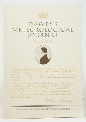Dawes's Meteorological Journal (Department of Science and Technology Bureau of Meteorology...