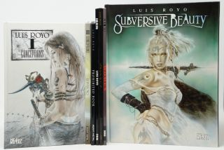 Luis Royo Set of 7 Books: Conceptions I, Conceptions III, Prohibited Book, Evolution, Secrets,...