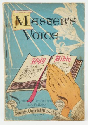 Shape Notes] Master's Voice: Our First 1966 Book for Singing Conventions, Singing Schools, Sunday...