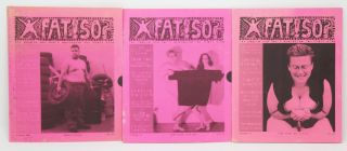 "Fat!So? Zine Issues 4, 5, and 6 [Three Issues]. Marilyn Henrietta ""Hank"" Wann."