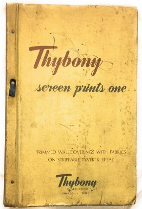 [Vintage Midcentury Wallpaper Sample Book] Thybony Screen Prints One: Trimmed Wallcoverings with...