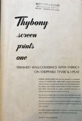 [Vintage Midcentury Wallpaper Sample Book] Thybony Screen Prints One: Trimmed Wallcoverings with Fabrics on Strippable Tyvek & I-Peal