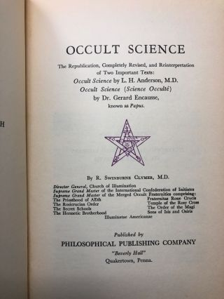 Occult Science (or Hidden Forces)