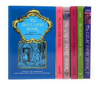Six Fairy Books: The Blue Fairy Book, The Pink Fairy Book, The Grey Fair Book, The Crimson Fairy...