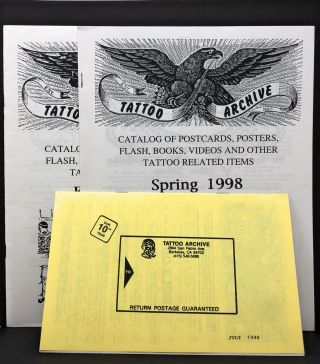 The Tattoo Archive, Three Catalogs: July 1990, February 1996, and Spring 1998. C. W. Eldridge.