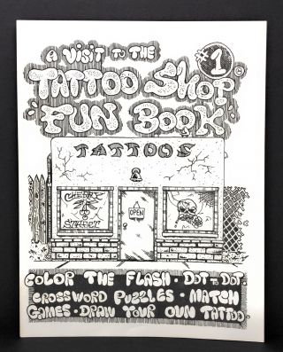 "A Visit to the Tattoo Shop ""Fun Book"" #1: Color the Flash, Dot to dot, Crossword Puzzles, Match..."