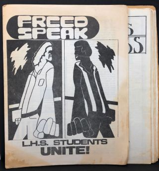 [Lawrence, Kansas Radical Student Newspaper, Seven Issues] Freed Speak, Issues 1 and 2, Students...