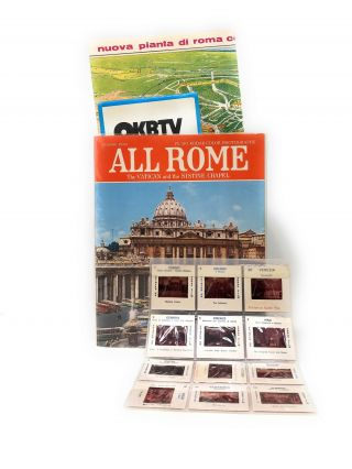 All Rome: The Vatican and Sistine Chapel with fold-out and laid in map, slides, and tourism...