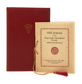 Notes on the Harvard Tercentenary with 1933 Jubilee of the Harvard Freshman Class