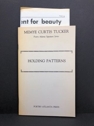 Holding Patterns. Memye Curtis Tucker