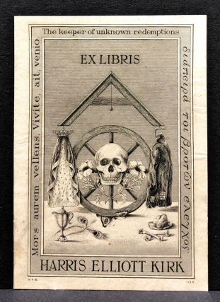 1920s Masonic Bookplate Designed by W. P. Barrett for J. & E. Bumpus