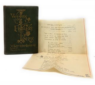 Weeds and Flowers: Poems with bawdy Merchant Navy handwritten poem laid in